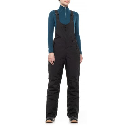 Slalom Cher High Bib Snow Pants - Insulated (For Women) in Caviar -  Closeouts 842071a37d