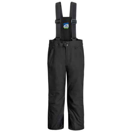 Slalom Suspender Snow Pants - Water Resistant, Insulated (For Little and Big Kids) in Black - Closeouts