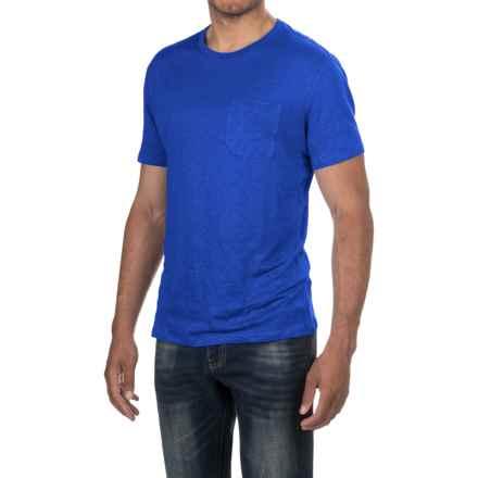 Slate & Stone Adrien T-Shirt - Linen, Short Sleeve (For Men) in Cobalt Blue - Closeouts