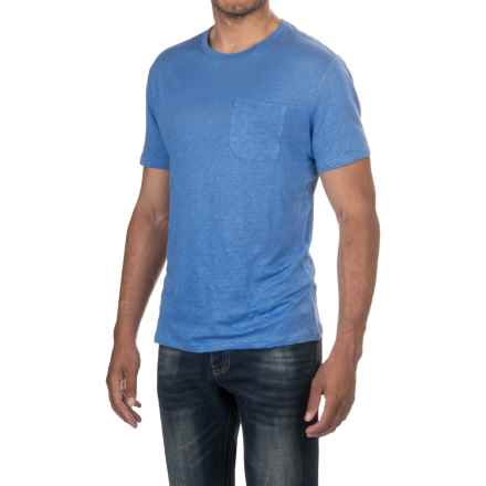 Slate & Stone Adrien T-Shirt - Linen, Short Sleeve (For Men) in Sail Blue - Closeouts
