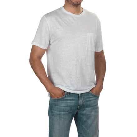 Slate & Stone Adrien T-Shirt - Linen, Short Sleeve (For Men) in White - Closeouts