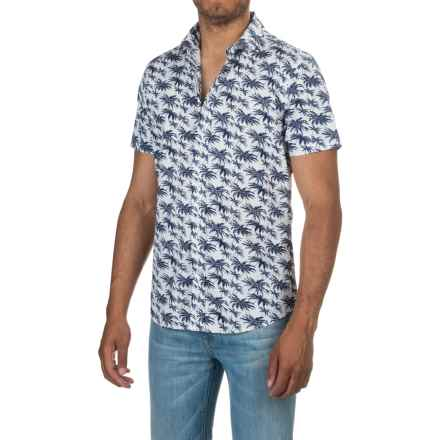 Slate & Stone Bates Shirt - Short Sleeve (For Men) in Navy Hawaiian Print - Closeouts