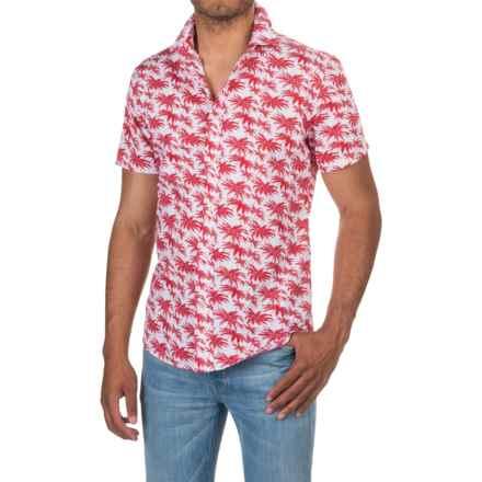 Slate & Stone Bates Shirt - Short Sleeve (For Men) in Red Hawaiian Print - Closeouts