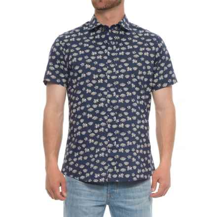 Slate & Stone Bates Shirt - Slim Fit, Short Sleeve (For Men) in Lotus Flower - Closeouts