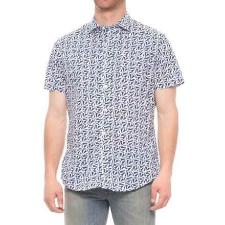 Slate & Stone Bates Shirt - Slim Fit, Short Sleeve (For Men) in Paper Plane - Closeouts