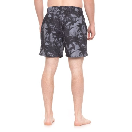 f32fe167cb Slate & Stone Cabo Palm Tree Printed Swim Trunks - Built-In Brief (For