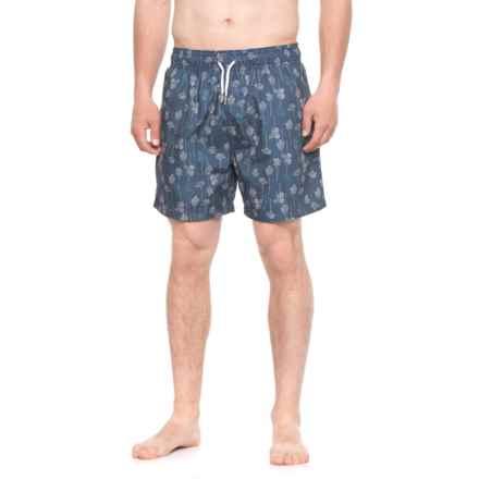 Slate & Stone Cabo Wallpaper Printed Swim Trunks (For Men) in Blue - Closeouts