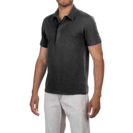 Slate & Stone Carter Polo Shirt -Short Sleeve (For Men) in Black - Closeouts