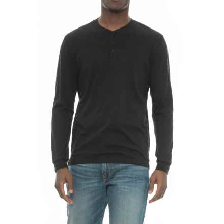 Slate & Stone Chad Henley Shirt - Long Sleeve (For Men) in Black - Closeouts