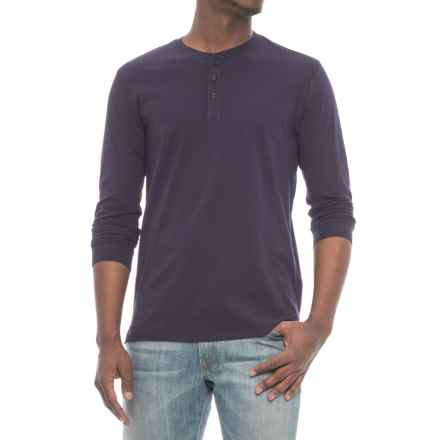 Slate & Stone Chad Henley Shirt - Long Sleeve (For Men) in Navy - Closeouts