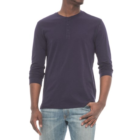 Slate & Stone Chad Henley Shirt - Long Sleeve (For Men) in Navy