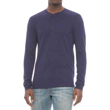 Slate & Stone Chad Henley Shirt - Long Sleeve (For Men) in Royal Blue - Closeouts