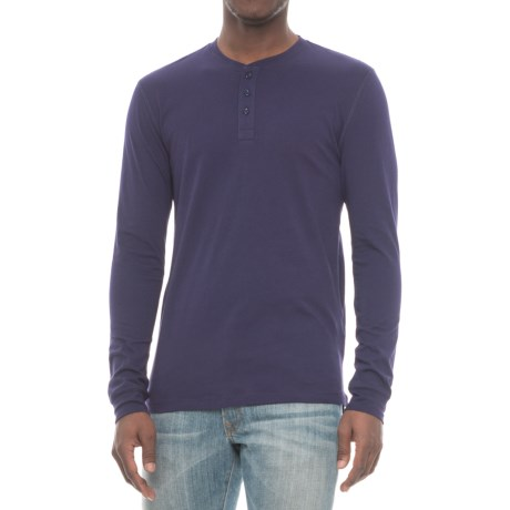 Slate & Stone Chad Henley Shirt - Long Sleeve (For Men) in Royal Blue
