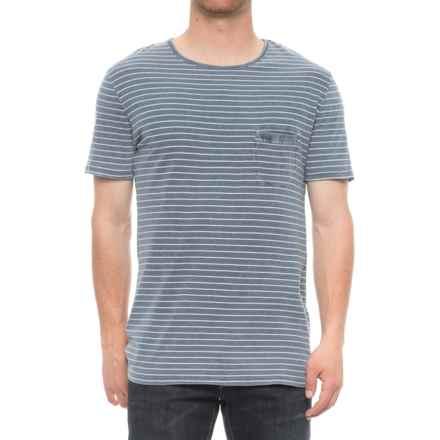 Slate & Stone David Pocket T-Shirt - Short Sleeve (For Men) in Blue/White Stripe - Overstock
