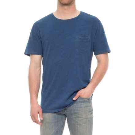 Slate & Stone David Pocket T-Shirt - Short Sleeve (For Men) in Indigo Vintage Wash - Overstock