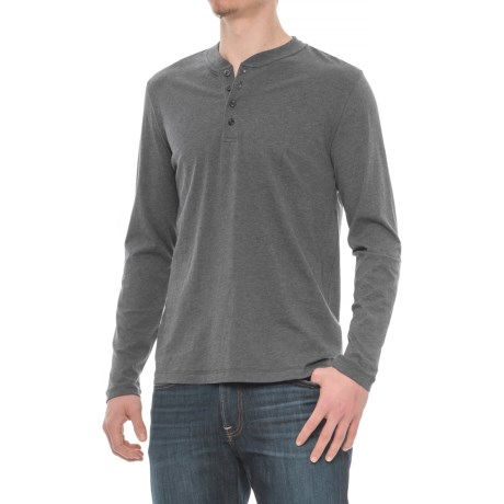 Slate & Stone Dean Henley Shirt - Supima® Cotton, Long Sleeve (For Men) in Charcoal