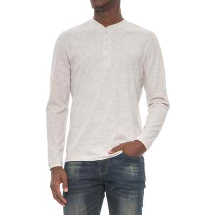 Slate & Stone Dean Henley Shirt - Supima® Cotton, Long Sleeve (For Men) in Light Grey - Closeouts