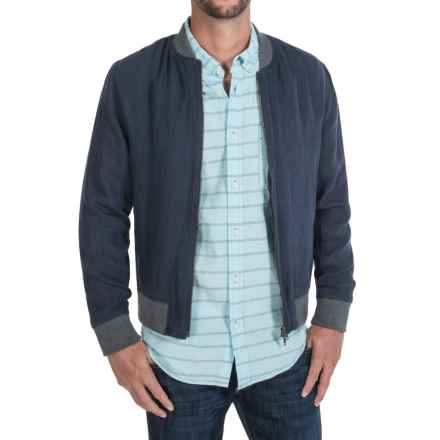 Slate & Stone Derek Linen Bomber Jacket (For Men) in Navy - Closeouts