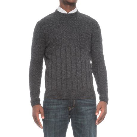 Slate & Stone Edgard Knit Sweater - Wool (For Men) in Charcoal