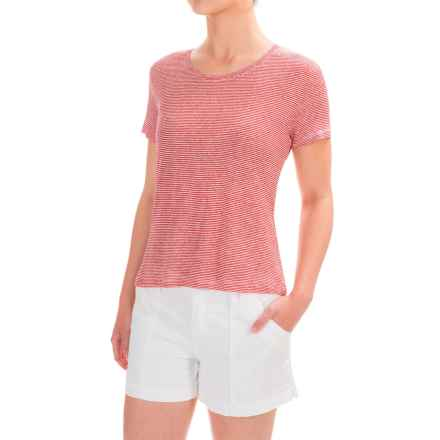 Slate & Stone Ella T-Shirt - Short Sleeve (For Women) in Red/White - Closeouts