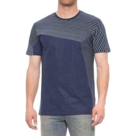 Slate & Stone Ethan Pocket T-Shirt -Short Sleeve (For Men) in Blue Yarn Dye Stripe - Overstock