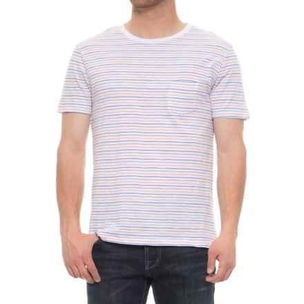 Slate & Stone Ethan Pocket T-Shirt -Short Sleeve (For Men) in Multi Yarn Dye Stripe - Overstock