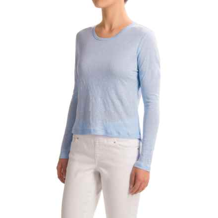 Slate & Stone Kaylee T-Shirt - Long Sleeve (For Women) in Sky Blue - Closeouts