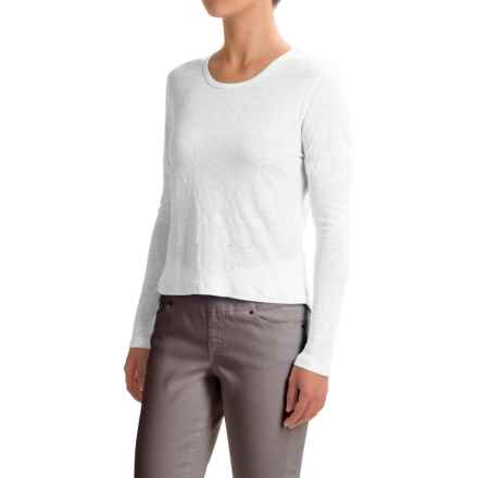Slate & Stone Kaylee T-Shirt - Long Sleeve (For Women) in White - Closeouts