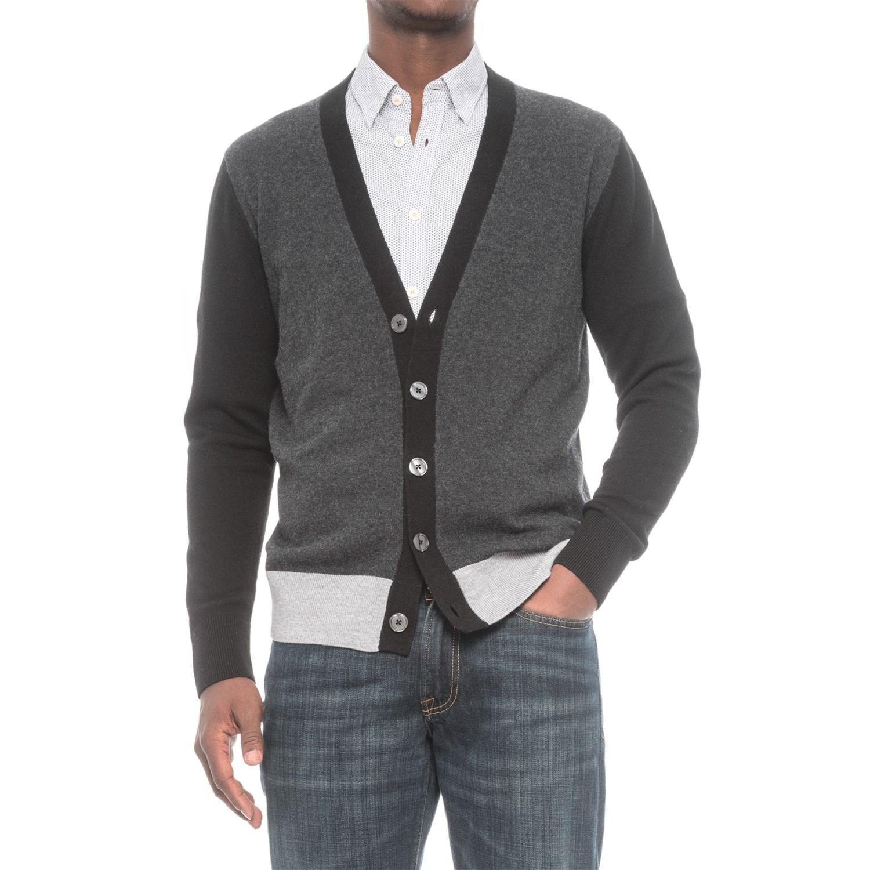 Slate & Stone Luca Color-Block Cardigan Sweater (For Men) - Save 62%