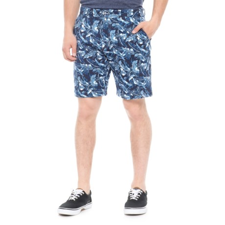 Slate & Stone Madison French Terry Shorts - Cotton Knit (For Men) in Blue Leaf
