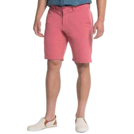 Slate & Stone Madison French Terry Shorts - Cotton Knit (For Men) in Faded Red - Closeouts