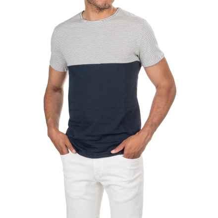 Slate & Stone Noah T-Shirt - Short Sleeve (For Men) in Stripe/Navy - Closeouts