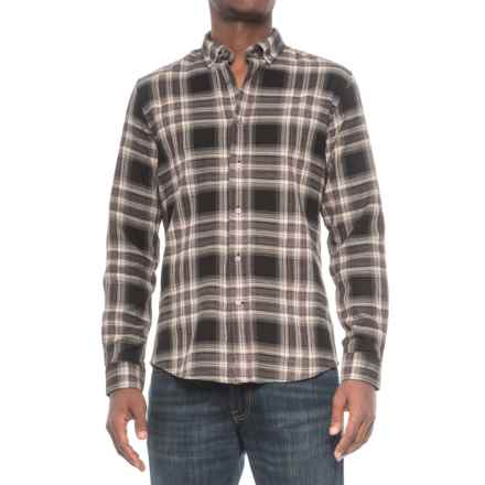 Slate & Stone Parker Plaid Shirt - Long Sleeve (For Men) in Black/Burf - Closeouts