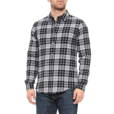 c36aaa4210 Slate & Stone Plaid Flannel Shirt - Long Sleeve (For Men) in Black