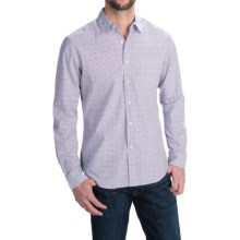 Slate & Stone Poplin Check Shirt - Long Sleeve in Red/White - Closeouts