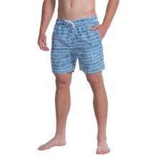 Slate & Stone Printed Cabo Swim Shorts (For Men) in Dark Blue Bricks - Closeouts