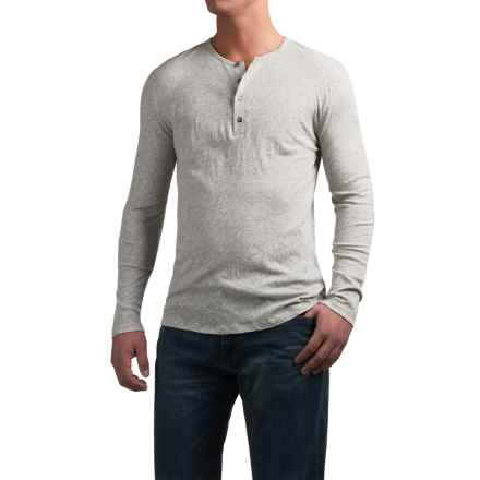 Slate & Stone Riley Henley Shirt - Cotton-Cashmere, Long Sleeve (For Men) in Grey - Closeouts