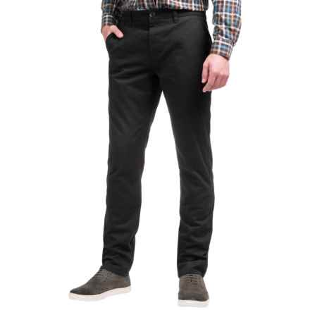 Slate & Stone Sam Chino Pants (For Men) in Black - Closeouts