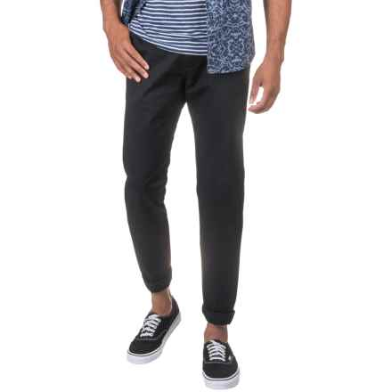 Slate & Stone Sam Chino Pants - Slim Fit (For Men) in Black - Closeouts
