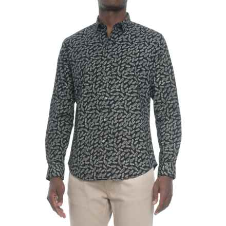 Slate & Stone Slate and Stone Asher Printed Shirt - Long Sleeve (For Men) in Black - Closeouts