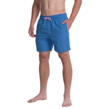 Slate & Stone Solid Cabo Swim Shorts (For Men) in Dark Blue - Closeouts