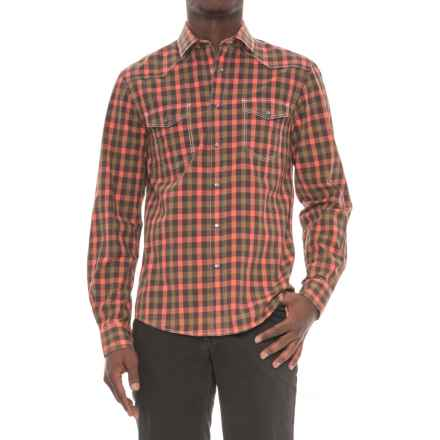 Slate Denim & Co. Cash Checkered Plaid Shirt - Snap Front, Long Sleeve (For Men) in Melon - Overstock