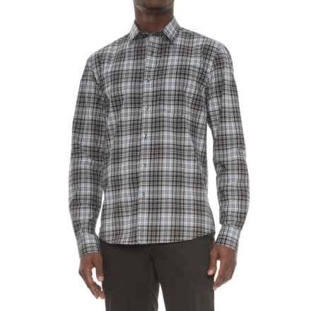 Slate Denim & Co. Dylan Plaid Shirt - Long Sleeve (For Men) in Silver - Overstock