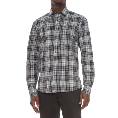 Slate Denim & Co. Dylan Plaid Shirt - Long Sleeve (For Men) in Silver
