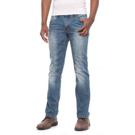 Slate Denim & Co. Parker Slim Fit Track Effects Jeans - Straight Leg (For Men) in Medium Wash - Overstock