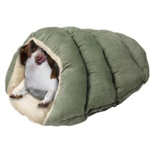 """Sleep Zone Cuddle Cave Pet Bed - 22x17"""" in Sage - Closeouts"""