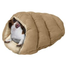 """Sleep Zone Cuddle Cave Pet Bed - 22x17"""" in Tan - Closeouts"""