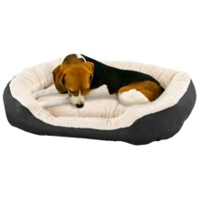 "Sleep Zone Oval Step-In Dog Bed - 26x21"" in Black - Closeouts"