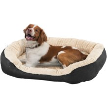 "Sleep Zone Oval Step-In Dog Bed - 31x26"" in Black - Closeouts"