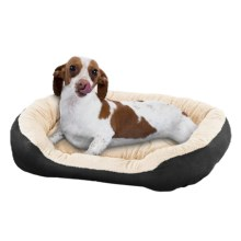 "Sleep Zone Oval Step-In Pet Bed - 21x17"" in Black - Closeouts"
